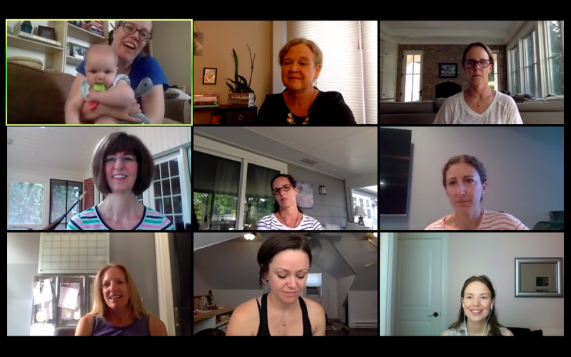 team meeting on Zoom